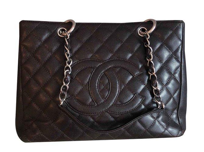 Sacs à main Chanel Grand shopping Cuir Marron ref.101309