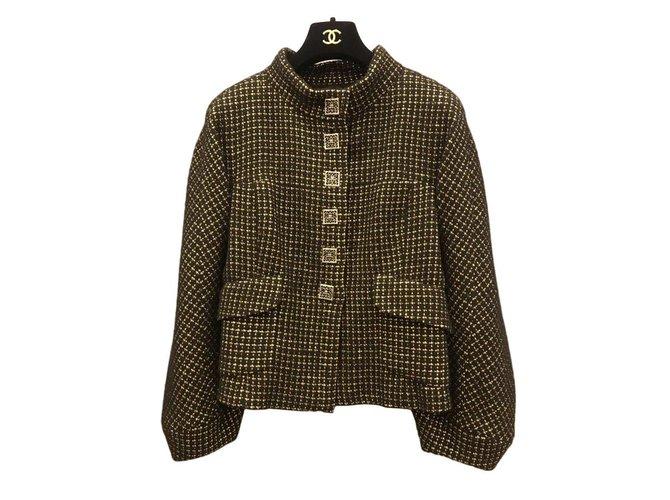 Vestes Chanel Chanel Tweed Noir ref.101321