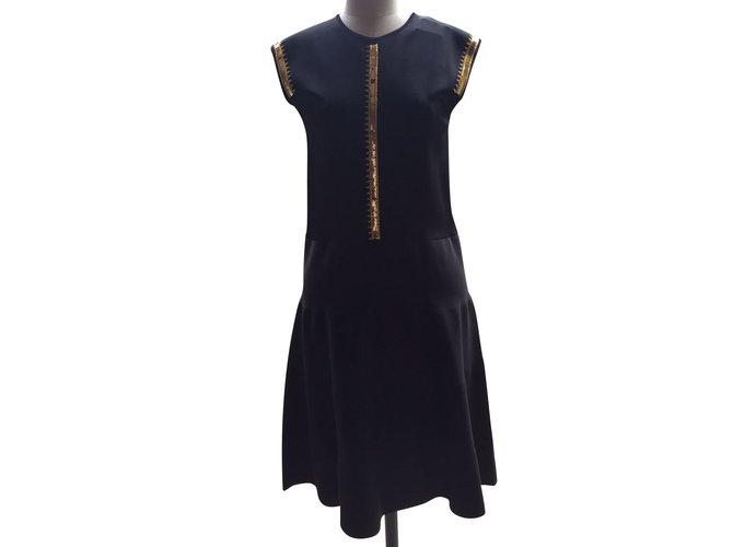 Louis Vuitton Dresses Dresses Viscose Black Ref101344 Joli Closet