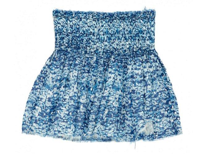 Jupes Isabel Marant Etoile Jupes Soie Bleu ref.101354