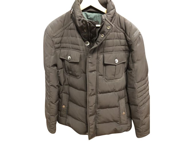 ce0d45ef Hugo Boss Hugo Boss Down men's Jacket Men Coats Outerwear Cotton Black  ref.101402