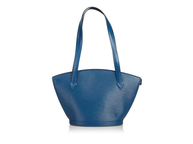Cabas Louis Vuitton Epi Saint Jacques PM Cuir Bleu ref.101418
