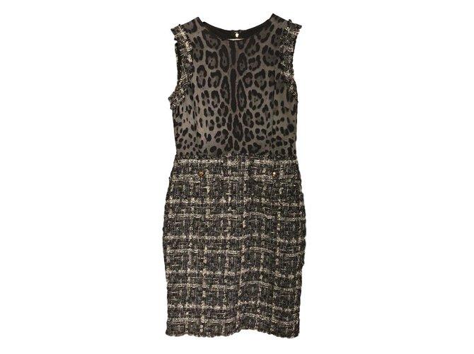 b6f9b06caf1 Dolce   Gabbana DOLCE GABBANA Dresses Tweed Grey ref.101427 - Joli ...