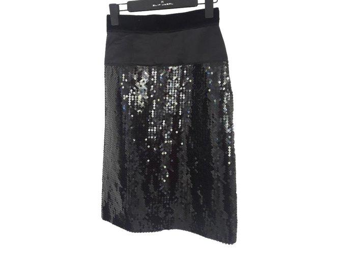 Jupes Dolce & Gabbana DOLCE & GABBANA Soie Noir ref.101429