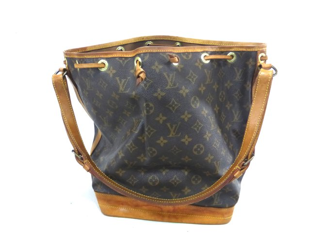Sacs à main Louis Vuitton NOE GM MONOGRAM Cuir Marron ref.101538