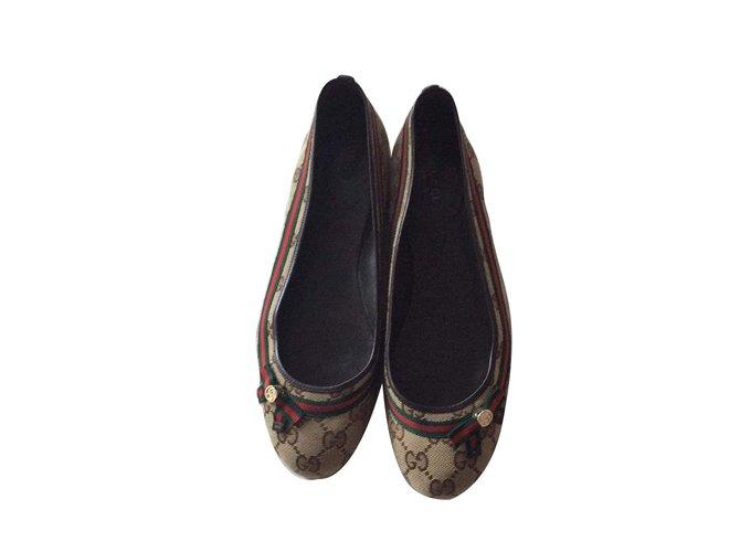1df430f7d Gucci Canvas flats Flats Leather
