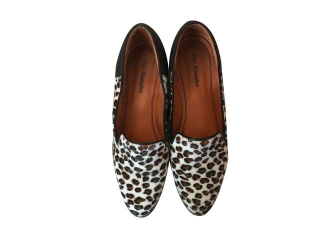 0a8583eb62f4 The Kooples Flats Flats Leather Leopard print ref.101565 - Joli Closet