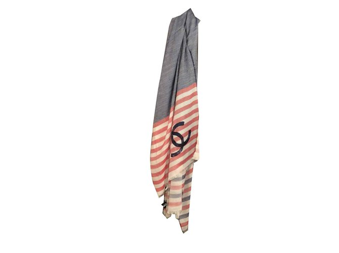 Chanel Scarves Scarves Other Multiple colors ref.101606