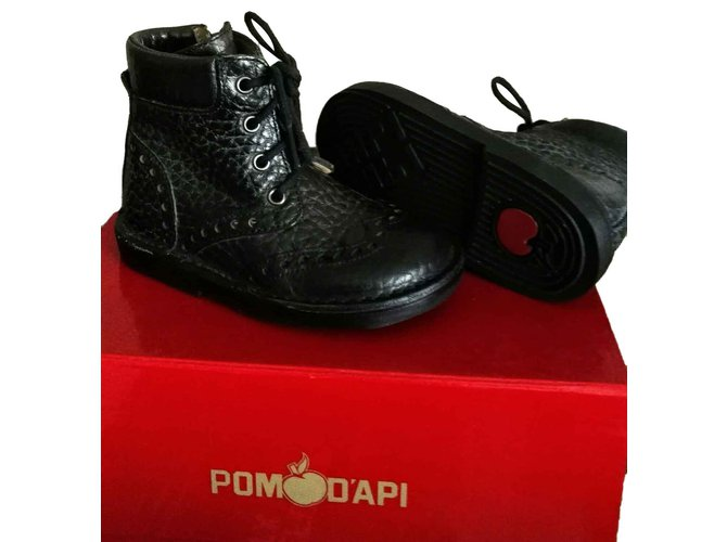Pom d'Api Boots Boots Leather Black ref.101711