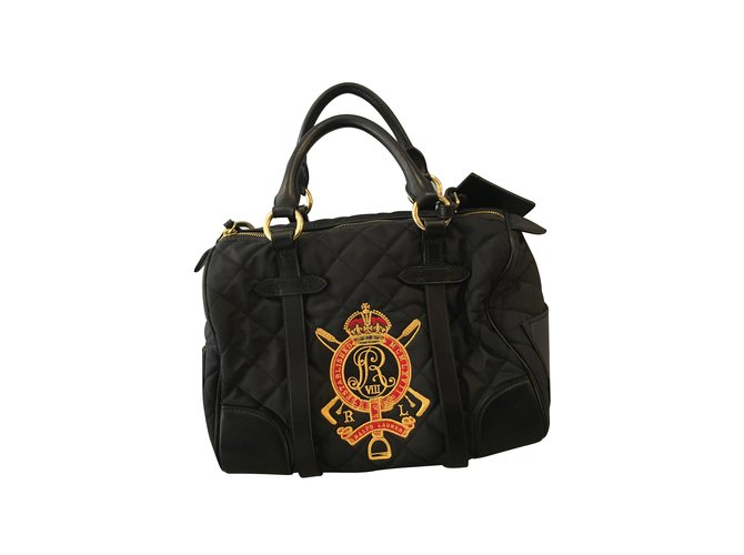 487fc8daead4 Ralph Lauren Handbags Handbags Cloth Black ref.101795 - Joli Closet
