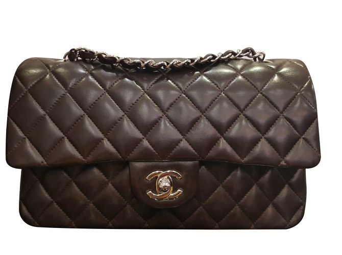 Chanel Chanel bag timeless smooth leather Handbags Leather Dark brown  ref.101854 08c610c2d580d