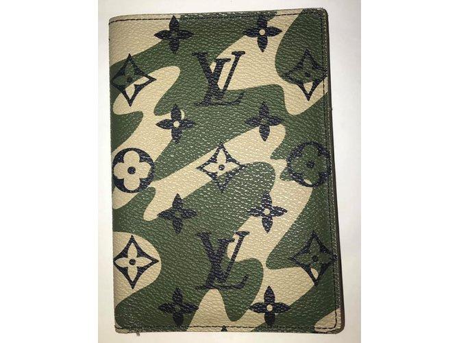 b052a543fd77 Louis Vuitton Monogramouflage passport holder Wallets Small accessories  Other Green ref.101862