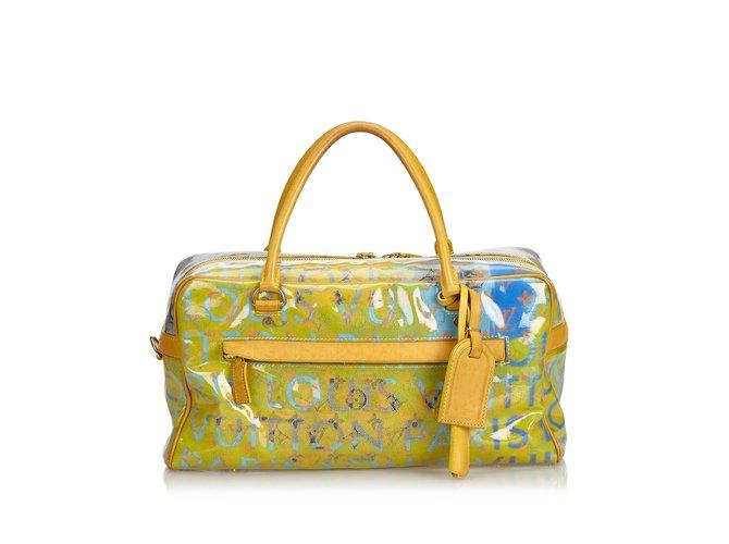 e00f4c6882e8 Louis Vuitton Monogram Pulp Line Weekender PM Travel bag Leather ...