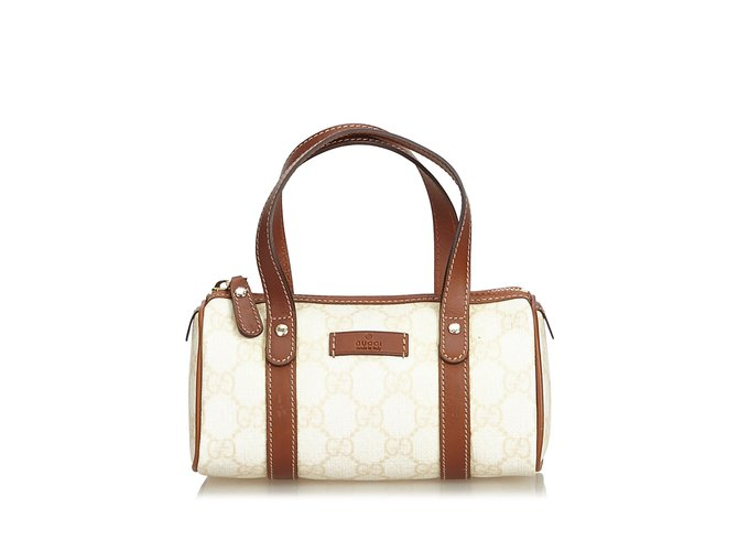 5a861d5db Gucci Guccissima Boston Bag Handbags Leather,Other,Plastic Brown,Beige,Dark  brown