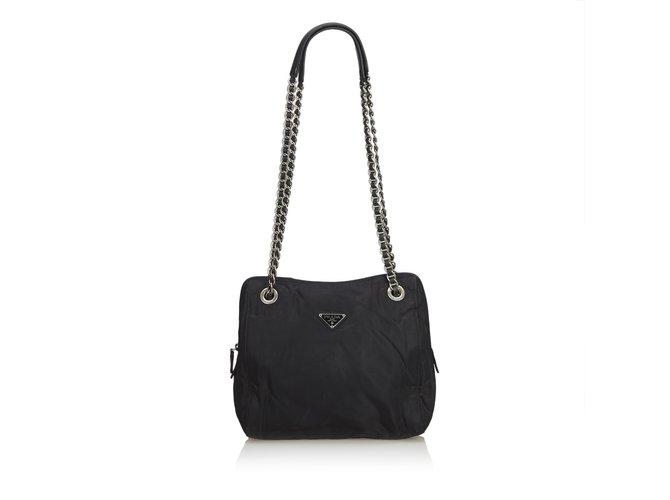 474995fba636 Prada Nylon Chain Tote Bag Totes Leather