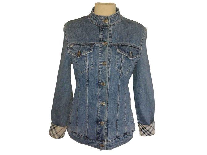 Vestes Burberry Veste jeans col mao BURBERRY