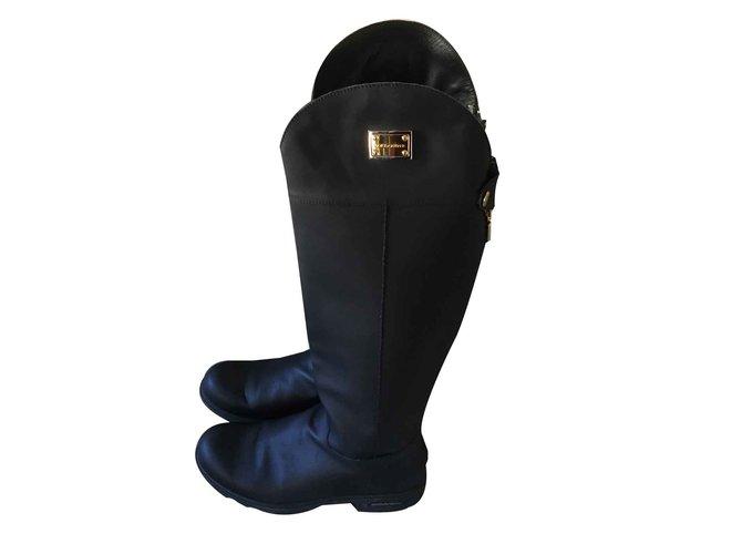 Bottes Dolce   Gabbana Bottes cavalières Cuir Noir ref.102220 - Joli ... 0b3574557565