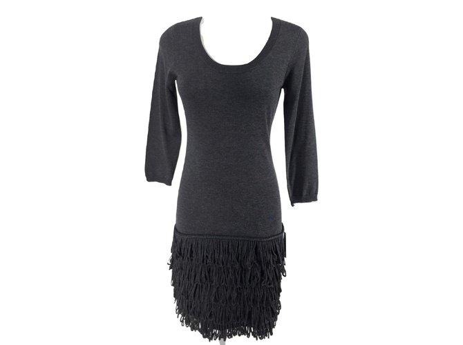 Calvin Klein Dresses Dresses Acrylic Dark Grey Ref102232 Joli Closet