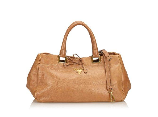 aead22c554b3 Prada Vitello Daino Leather Satchel Handbags Leather