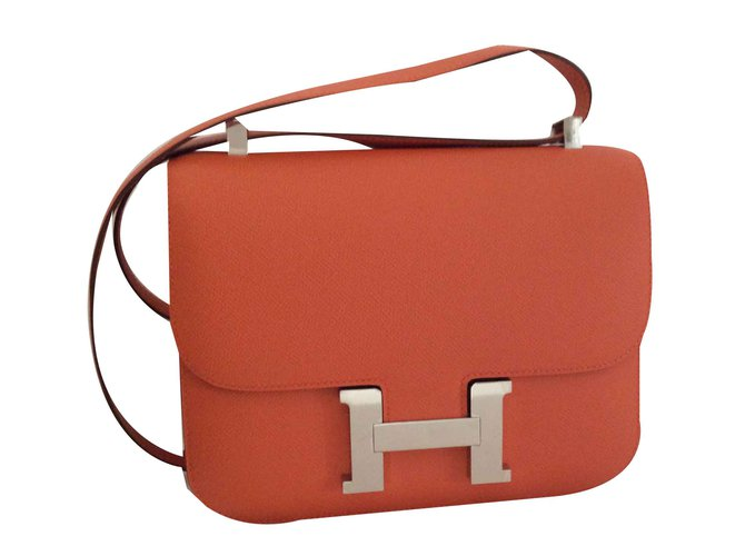 Hermès CONSTANCE III 24 Handbags Leather Orange ref.102361