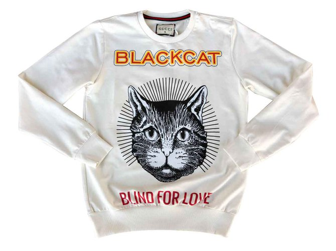 bc631e42c Gucci Gucci Black Cat Sweatshirt Tops Cotton Multiple colors ref.102369