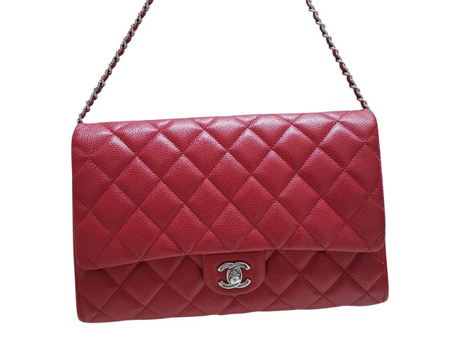 56eb9c4f5689 Chanel Chanel bag Handbags Leather Red ref.102385 - Joli Closet