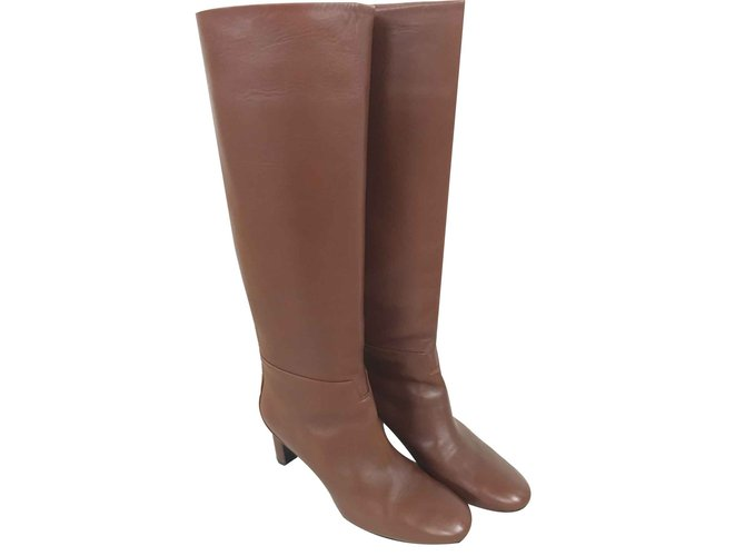 Hermès Judy Boots Leather Brown ref.102481