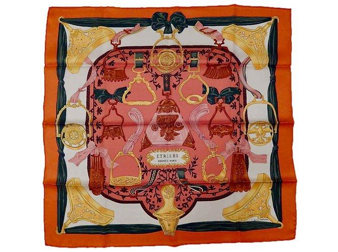 Hermès BRACKETS (Vintage silk) Silk scarves Silk Multiple colors ref.102698