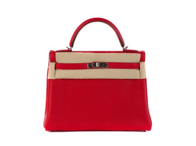 0e42904dc482e Hermès hermes kelly 32 Togo red leather