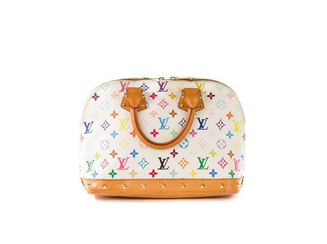 c5ed6414e6a Louis Vuitton Alma Collector Murakami white multicolor bag!