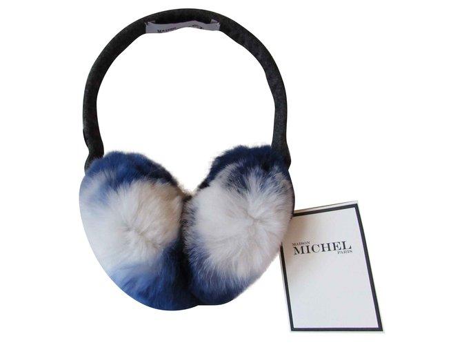 Maison Michel Hats Hats Fur White,Blue ref.102803