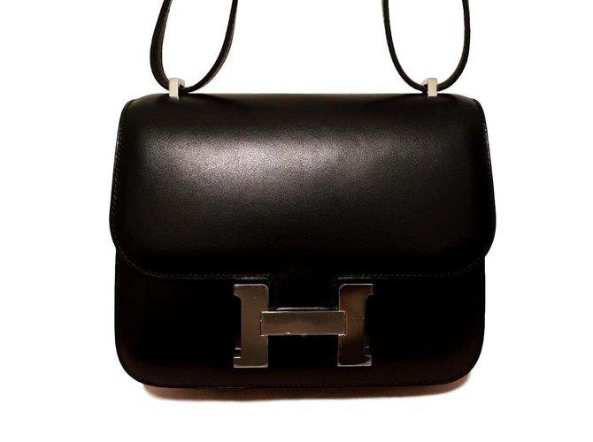 Sacs à main Hermès Constance III Mini Cuir Noir ref.102886