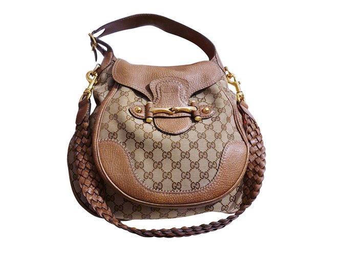 b9543f93286 Gucci Gucci bag PELHAM shoulder strap Handbags Leather