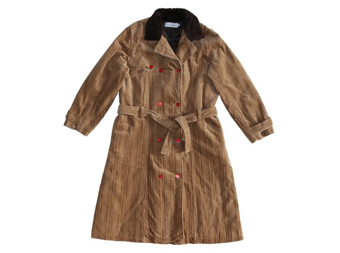 Christian Dior Girl Coats outerwear Girl Coats outerwear Cotton,Polyester,Viscose,Modal Brown ref.102928