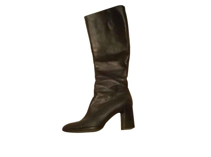 Céline COMFORTE Boots Leather Black ref.103000