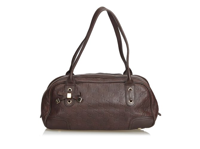 003cd17ecb5a Gucci Guccissima Leather Princy Shoulder Bag Handbags Leather,Other  Brown,Dark brown ref.