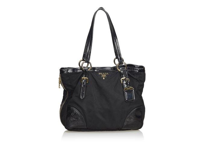 4452e2c63fae6 Prada Nylon Tote Bag Totes Leather