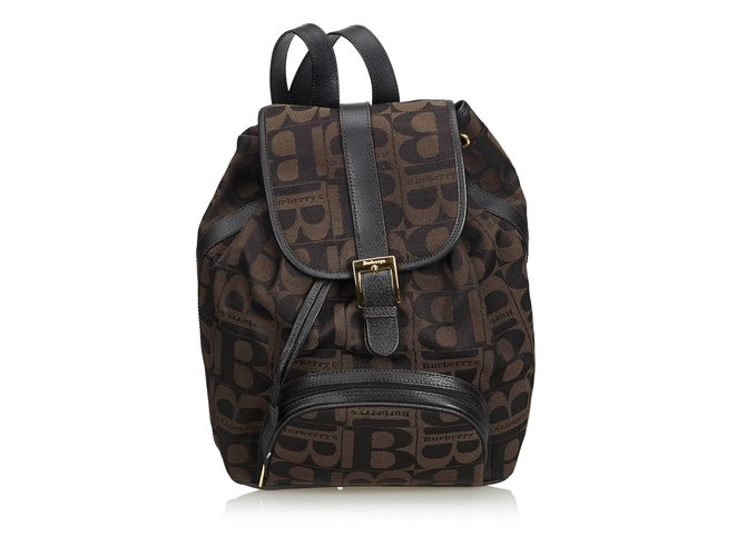 aab5e42226ac Burberry Canvas Drawstring Backpack Backpacks Leather,Other,Cloth,Cloth  Brown,Black,