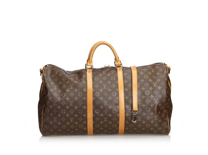d662596f301e Louis Vuitton Monogram Keepall Bandouliere 60 Travel bag Leather ...
