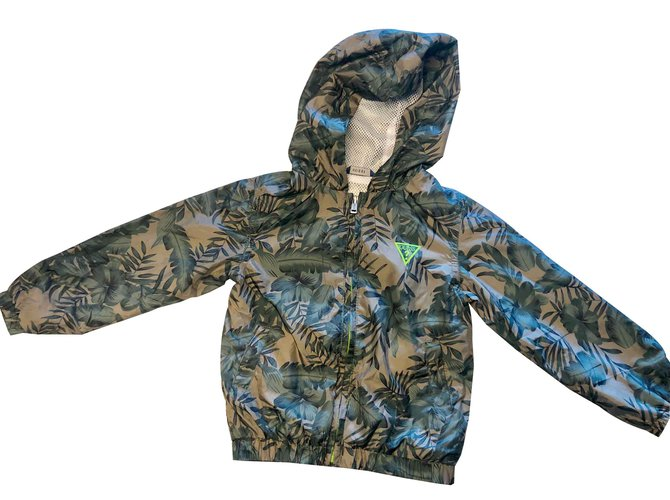 Guess GUESS Wind Jacket Boy Coats Outerwear Other Dark green ref.103158