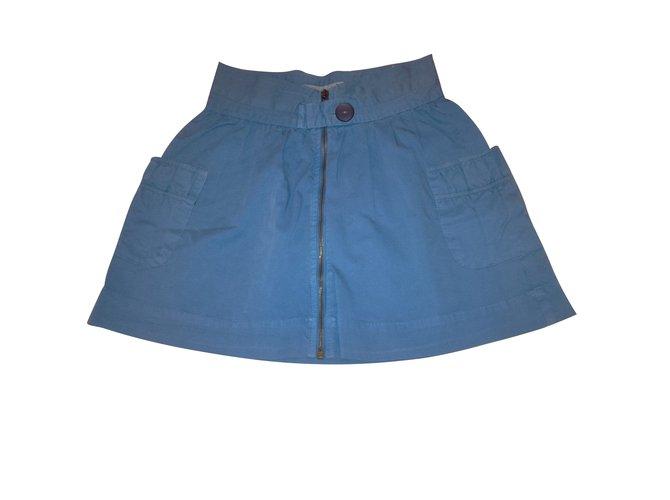 Zara Skirts Skirts Cotton Blue ref.103205