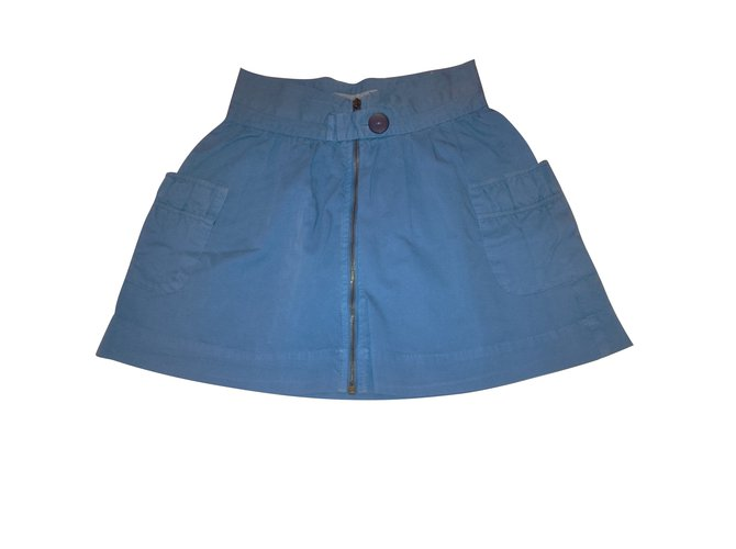 Jupes fille Zara Jupes Coton Bleu ref.103205