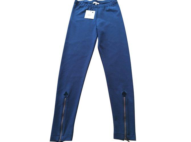 Pantalons fille Jean Paul Gaultier Pantalon Jibsy de Gaultier Junior Coton Bleu Marine ref.103420