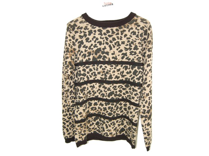 Jean Paul Gaultier Junior Gaultier Graft Sweater Sweaters Cotton Leopard print ref.103422
