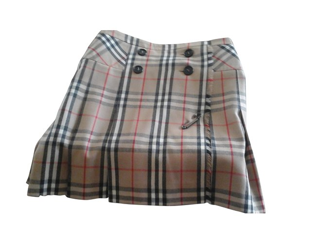 Burberry Burberry wrap skirt Skirts Wool Beige ref.103702