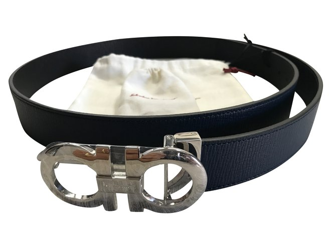 wholesale price new collection outlet store nouvelle ceinture noire réversible ferragamo salvatore