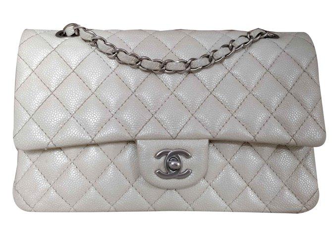 fed955e238a Chanel 2.55 timeless classic caviar Handbags Leather Cream ref.103802