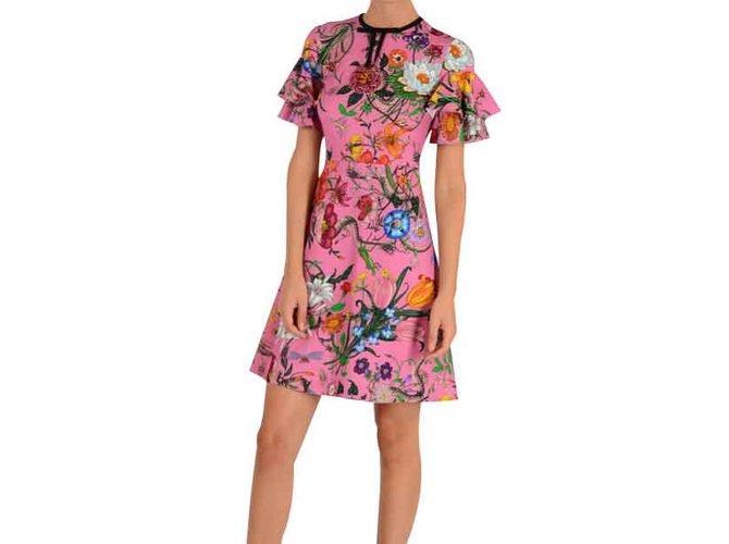 2e51961f6 Gucci Floral print Dresses Viscose Multiple colors ref.103840 - Joli ...