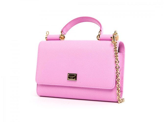 d97ac80592 Dolce   Gabbana Mini Von Bag Handbags Leather Pink ref.103936 - Joli ...