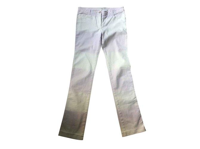 Chloé Chloe Tourterelle Boot Cut Jeans T 38 Jeans Cotton White ref.104351